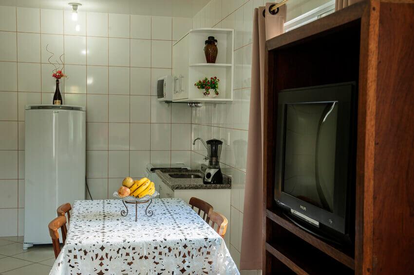 Prédio Branco - Cozinha / sala apto duplex