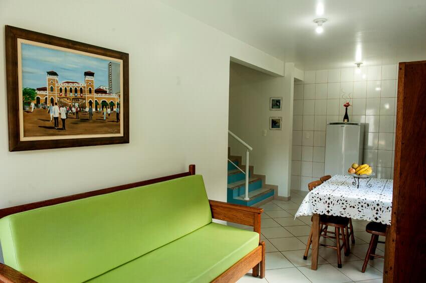 Prédio Branco - Sala/ cozinha apto duplex