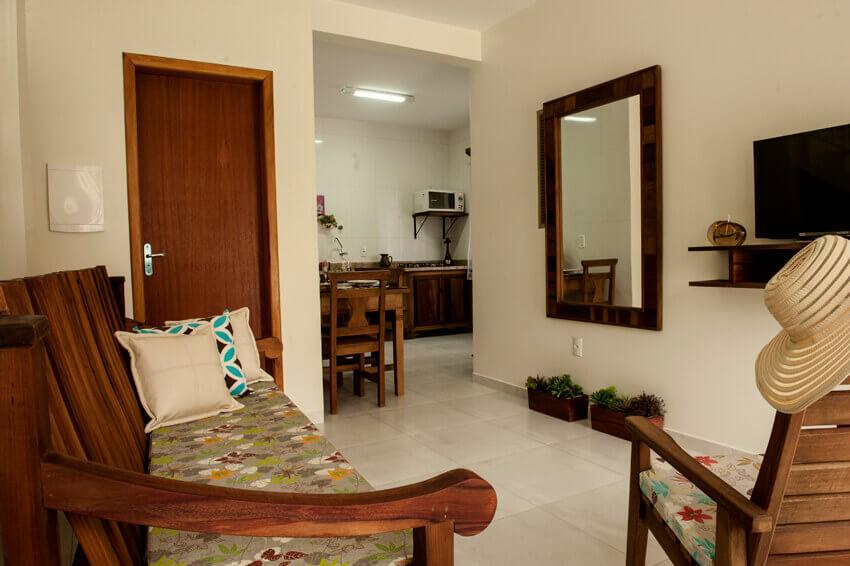 Prédio Verde - Sala/ Cozinha apto Duplex Luxo